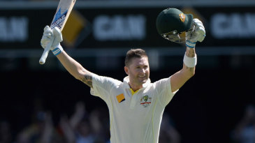 Michael Clarke celebrates his sixth Ashes hundred