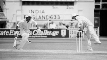 Sunil Gavaskar is run out by Bob Taylor