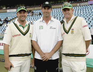 It was the 100th Test match for Jacques Kallis, Stephen Fleming and Shaun Pollock, South Africa v New Zealand, 1st Test, Centurion, 5th day, April 19, 2006