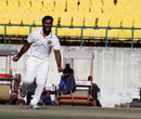 Alfred Absolem celebrates a wicket, Himachal Pradesh v Hyderabad, Ranji Trophy, Group C, Dharamsala, 4th day, November 24, 2013