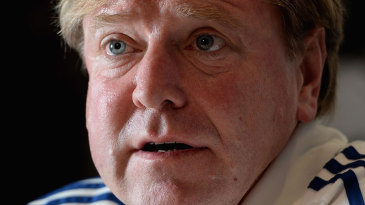Hugh Morris, managing director of England cricket, at a press conference