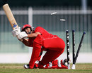 Taha Ahmed was bowled by Imran Awan for 2, United States of America v Denmark, ICC World Twenty20 Qualifier, 15th place play-off, Sharjah, November 26, 2013