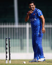 Imran Awan picked up two wickets in the 19th over, United States of America v Denmark, ICC World Twenty20 Qualifier, 15th place play-off, Sharjah, November 26, 2013