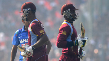 Marlon Samuels and Kieran Powell added 117 for the second wicket