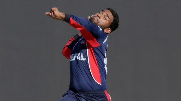 Jitendra Mukhiya in his delivery stride