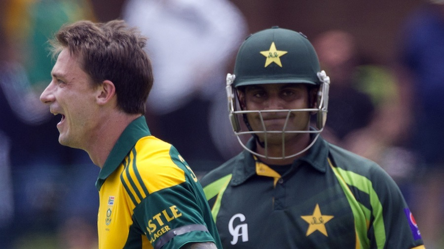 Dale Steyn dismissed Mohammad Hafeez for the 15th time in international cricket