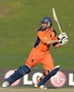 Eric Szwarczynski struck two fours during his 23, United Arab Emirates v Netherlands, quarter-final, ICC World Twenty20 Qualifier, Abu Dhabi, November 27, 2013
