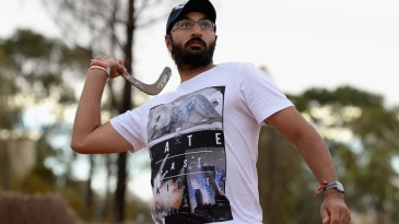 Ready to rebound? Monty Panesar gets to grips with a boomerang