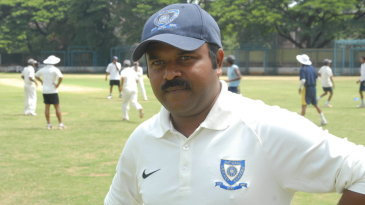 Pravin Amre at the National Cricket Academy, Bangalore