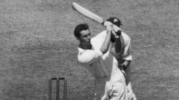 Reg Simpson batting during his innings of 156 not out at the MCG