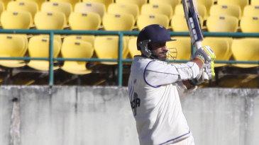 Nikhil Gangta pulls during his 99