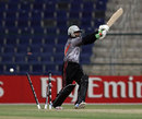 Nasir Aziz was bowled by Tim Murtagh, Ireland v UAE, ICC World T20 Qualifier, 2nd semi-final, Abu Dhabi, November 29, 2013