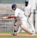 Jaydev Shah guides the ball to third man during his unbeaten 133, Tamil Nadu v Saurashtra, Ranji Trophy, Group B, Chennai, 3rd day, November 30, 2013