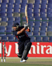 Anil Mandal struck a couple of boundaries at the death, UAE v Nepal, ICC World Twenty20 Qualifiers, 3rd place play-off, Abu Dhabi, November 30, 2013