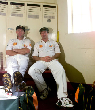 Steve and Mark Waugh, Adelaide, December 13,  2001