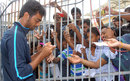 Jaydev Unadkat signs some autographs for the fans, Tamil Nadu v Saurashtra, Ranji Trophy, Group B, Chennai, 4th day, December 1, 2013
