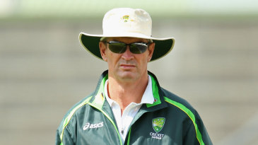 Graeme Hick at an Under-19 game in Hobart