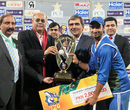 Imran Nazir collects the spoils after ZTBL cruised to victory, Faysal Bank T20 Cup, final, Lahore, December 3, 2013