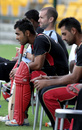 Canada's captain Ashish Bagai watches the match from the bench, Canada v Italy, ICC World Twenty20 Qualifier, Group A, Abu Dhabi, November 24, 2013