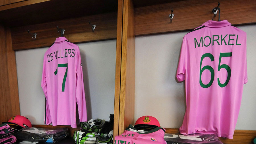 South Africa wore pink kits to raise awareness for breast cancer