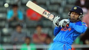 Rohit Sharma struggled to get bat on ball a few times