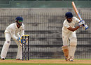 Baroda's Dhiren Mistry plays an on-drive, Tamil Nadu v Baroda, Ranji Trophy, Group B, Chennai, 1st day, December 6, 2013