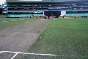 The Durban pitch was rather indistinguishable from the rest of the square on the eve of the game