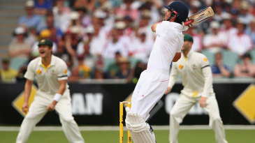 Alastair Cook hooked and was caught at long leg