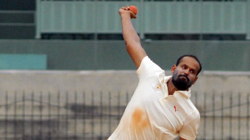 Yusuf Pathan took 6 for 84 in Tamil Nadu's first innings