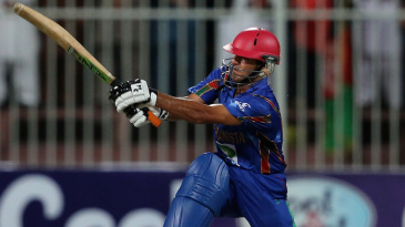 Najibullah Zadran sweeps one powerfully