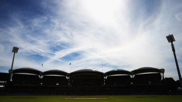 A view of play at Adelaide Oval