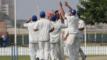 Dawlat Zadran celebrates after dismissing Paul Stirling