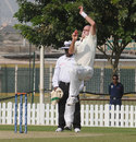 Trent Johnston in his delivery stride, Afghanistan v Ireland, Intercontinental Cup final, Dubai, 2nd day, December 11, 2013