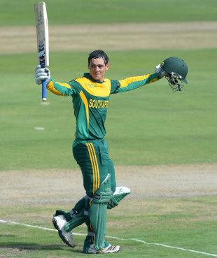 Quinton de Kock broke the record for the most runs in a three-match bilateral series