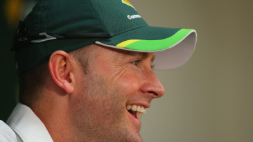 Michael Clarke had plenty to smile about ahead of his 100th Test
