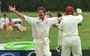 Chris Cairns: 72 in the first innings and 10 for 100 in the match