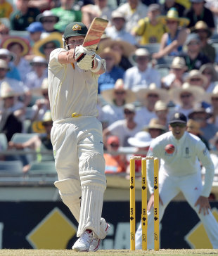 Steven Smith was strong on the pull, Australia v England, 3rd Test, Perth, 1st day, December 13, 2013