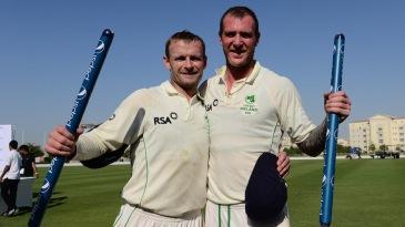 William Porterfield and John Mooney celebrate their win