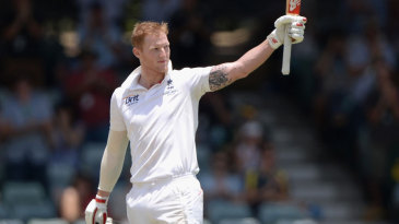 Ben Stokes recorded his maiden Test century