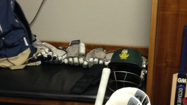 Graeme Smith's spot in the Wanderers dressing room