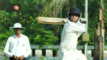 Chirag Khurana cuts during his unbeaten 43