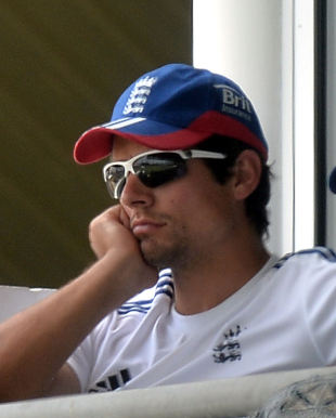 Alastair Cook, England captain, looks on as Australia move closer to regaining the Ashes in the third Test in Perth