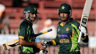 Sharjeel Khan and Mohammad Hafeez added 83 for the second wicket