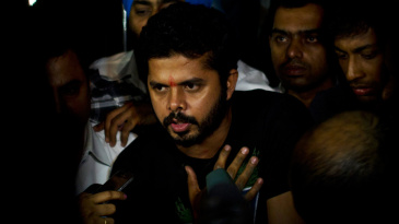 Sreesanth speaks to the press after being released from jail