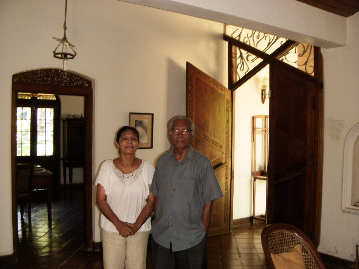 Kumari and Kshema Sangakkara in their Kandy home, where Kumar grew up