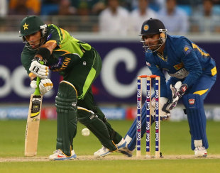 Misbah-ul-Haq chipped in with a fifty, Pakistan v Sri Lanka, 2nd ODI, Dubai, December 20, 2013