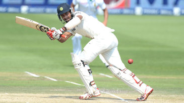 Cheteshwar Pujara flicks to the leg side