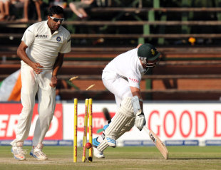 Graeme Smith was run-out off a direct hit from Ajinkya Rahane