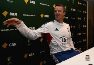 Graeme Swann at a press conference announcing his retirement from international cricket, Melbourne, December 22 2013
