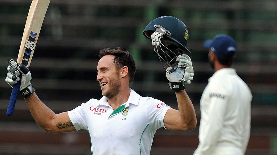 Faf du Plessis reaches his century